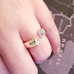Boutique Gold Plated Crystal Wrap Ring 6